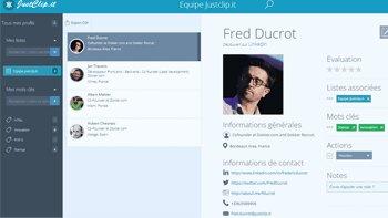 JustClip.it capture et trie les profils des réseaux sociaux - D.R.