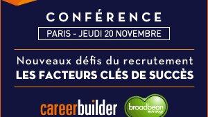 Agenda - Nouveaux défis du recrutement : quels sont les facteurs clés de succès ? Conférence CareerB - D.R.