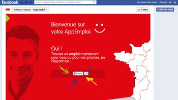AppEmploi, l'application lancée par Adecco sur Facebook