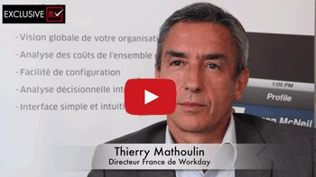 3 min avec Thierry Mathoulin, Directeur France de Workday - D.R.