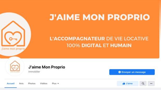 Homepage facebook J'aime mon proprio - © D.R.