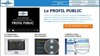 220 000 profils publics créés chez Cadremploi - D.R.