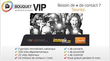 Bouquet VIP: l'offre de Vivastreet réservée aux professionnels de l'immobilier - © D.R.