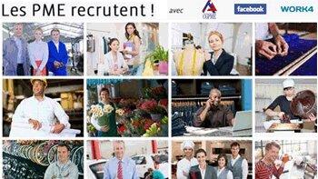 Facebook se mobilise pour faciliter le recrutement des PME - D.R.
