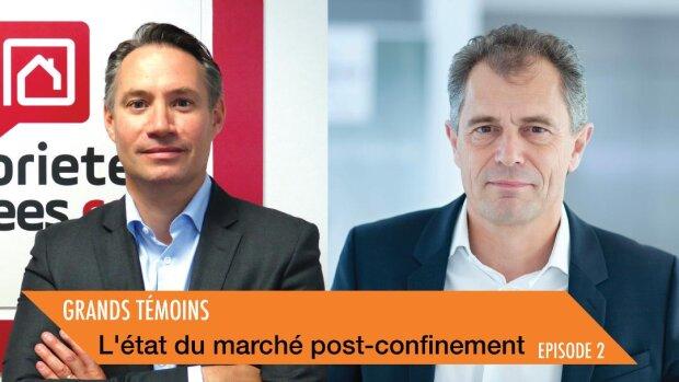 Michel Le Bras, président de propriétés-privées.com et Philippe Buyens, DG de Capifrance - © D.R.