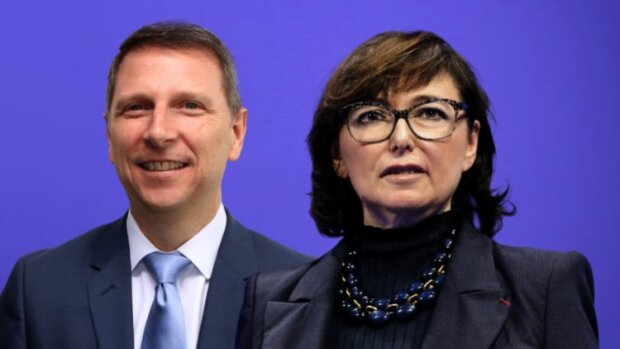 Duo vainqueur de Geodis: Mario CECCON (DRH) et Marie-Christine LOMBARD (P-DG) - © D.R.
