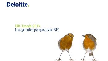 Etude Deloitte: les cinq tendances RH à retenir - D.R.
