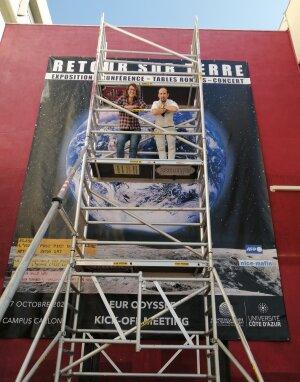 L'exposition «Retour sur Terre» était prévue pour le lancement d'Odyssée - © D.R.