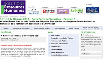 Salon Solutions RH : Exclusive RH organise une keynote sur les innovations e-RH - D.R.