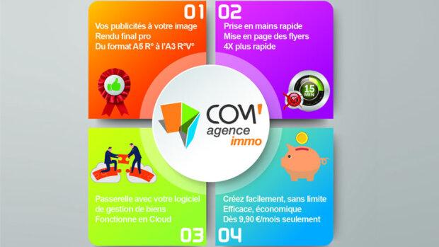 Com'Agence Immo automatise la création des supports de communication - © D.R.