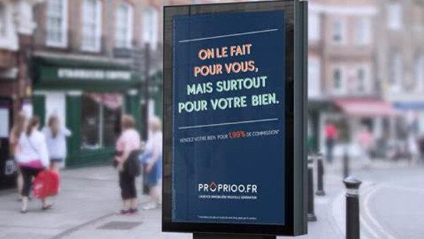Proprioo fait campagne pour présenter son nouveau modèle à 1.99% - © D.R.