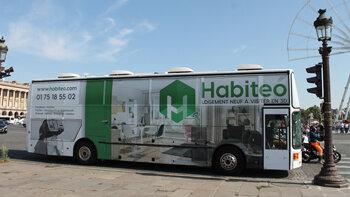 Habiteo commercialise une bulle de vente itinérante - © D.R.