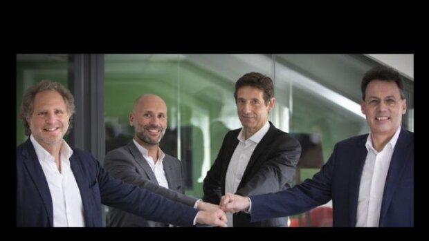 J.S. Arcis, A. Pachulski, J. Bentolila, P. Houillon: les 4 dirigeants du deal Cegid - Talentsoft - © D.R.
