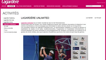 Lagardère Unlimited optimise la gestion de ses talents avec Cornerstone OnDemand - D.R.