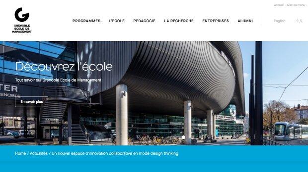 Site internet Grenoble École de Management