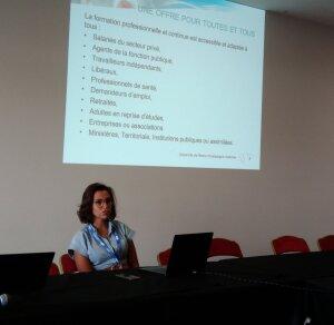 Nadia Nassoh est directrice adjointe de la formation professionnelle et de l'apprentissage à l'URCA. - © IC - Campus Matin