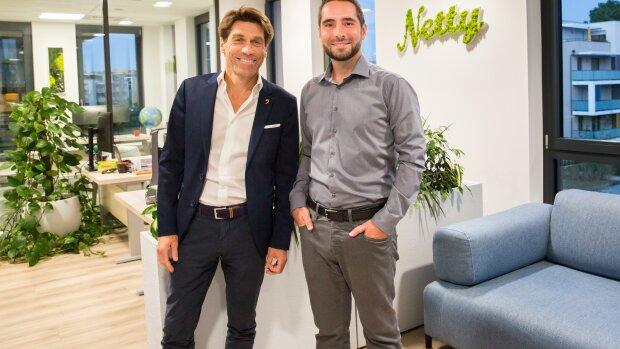 Hugues Galambrun, PDG de Septeo et Denislav Nikolov, PDG de Netty - © Laura Dubreuil
