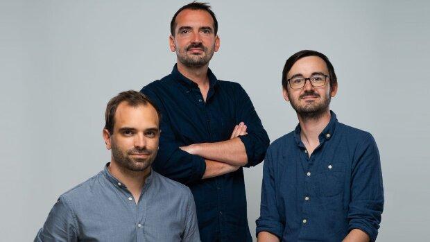 Equipe fondatrice d'Elevo (de gauche à droite): Thibaut Vilon, Etienne Le Scaon et Leo-Paul Goffic - © D.R.