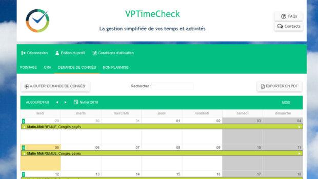 VPTimeCheck simplifie la gestion des temps à l'extrême - © D.R.