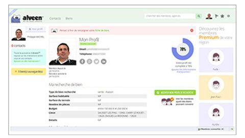 Alveen: un réseau social spécialisé dans l'immobilier - D.R.