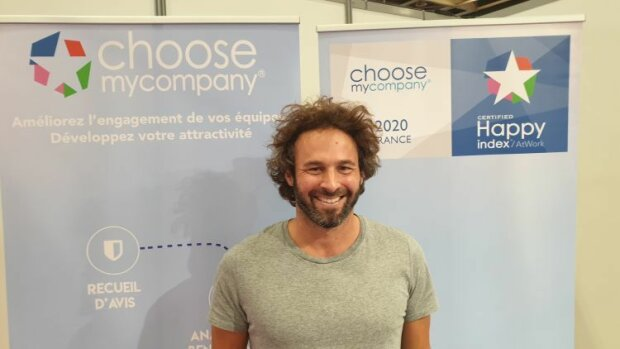 Laurent Labbé, CEO de ChooseMyCompany, sur le Salon Solutions RH - © D.R.