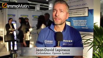 3 min avec Jean-David Lepineux, co-fondateur, Opinion System - D.R.