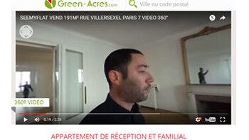Le portail Green-Acres intègre la vidéo 360° dans ses annonces - D.R.