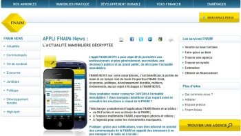 Application FNAIM News : bilan mitigé - D.R.