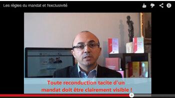 Vidéo de formation: les règles du mandat et de l'exclusivité - D.R.