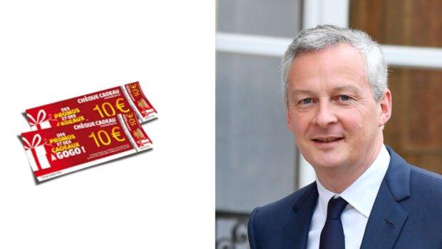 Le plafond des chèques cadeaux double: une mesure ponctuelle anti-crise selon Bruno Le Maire - © D.R.