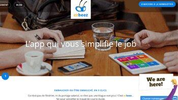 """L'application Ezbeez invente le bouton """"J'embauche"""" - D.R."""