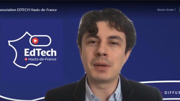 Chris Delepierre, cofondateur de Trézorium devient président d'Edtech Hauts-de-France. - © D.R.