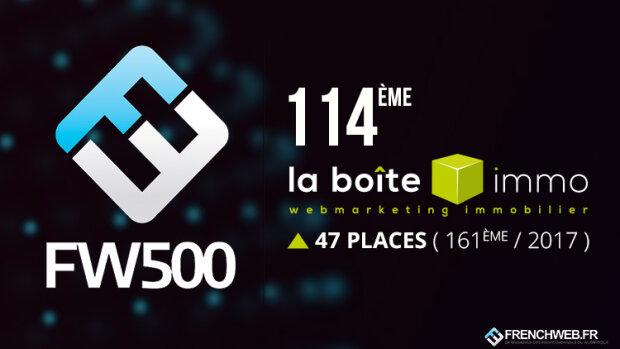 La Boîte Immo, 114<sup>e</sup> du Classement FW 500 2018! - © D.R.