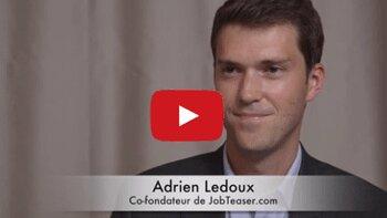4 min 30 avec Adrien Ledoux, co-fondateur de JobTeaser - D.R.