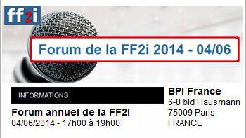 Le prochain forum de la FF2i aura lieu le 4 juin autour du thème de la performance - © D.R.