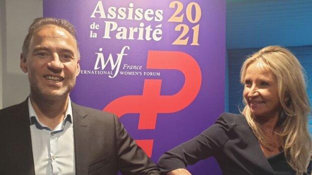 Bilan des Assises de la Parité 2021 avec Mathieu Gabai (EPOKA) et Lucille Desjonquères (IWF) - © D.R.