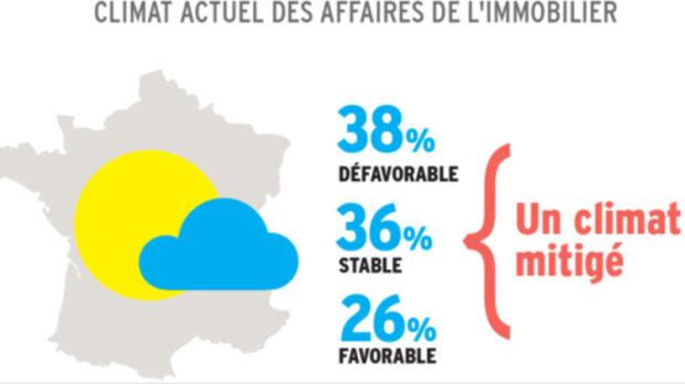 Infographie: les agents immobiliers ont-ils le moral? - © D.R.