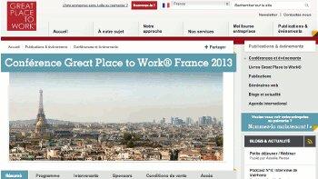 """Agenda - Conférence """"Bien-être au travail et performance de l'Institut Great Place to Work®"""