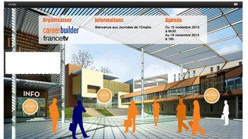 CareerBuilder lance un salon virtuel de recrutement - D.R.