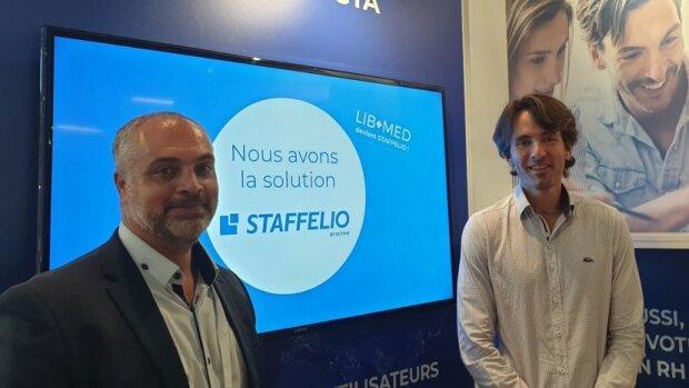Frédéric Guindeuil, Directeur commercial d'OCTIME, et Charles Grosdidier, CEO de LibMed - © D.R.