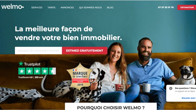 Welmo - homepage -