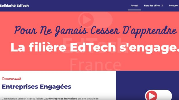 Covid-19: 260 ressources gratuites de la EdTech pour la continuité pédagogique