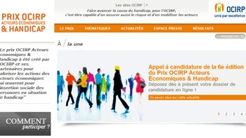 Appels à projets&nbsp;: 6<sup>e</sup> édition du Prix Ocirp Acteurs Economiques et Handicap - © D.R.