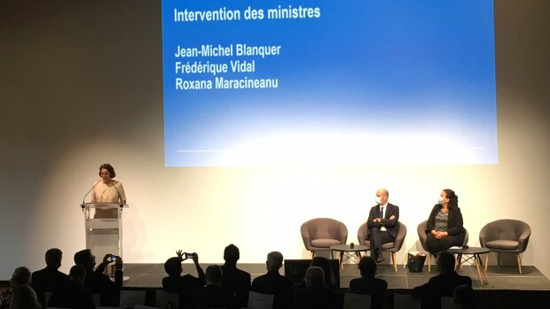 Le séminaire de rentrée 2021 de l'Igésr en présences des ministres Jean-Michel Blanquer et F. Vidal. - © Fabien Oppermann / Twitter