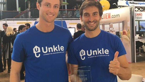 Unkle remporte le trophée de la start-up RENT 2018 - © D.R.