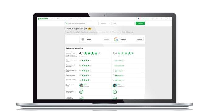 Recrutement: Glassdoor introduit un comparateur d'entreprises - D.R.