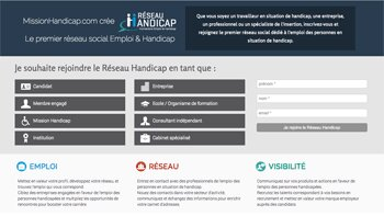 Jobinlive lance Réseau-Handicap.com - D.R.
