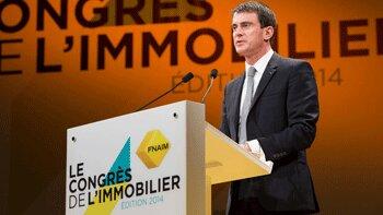 Congrès Fnaim: «Le logement est une priorité du gouvernement», Manuel Valls