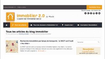 Le blog Immobilier 2.0 fait peau neuve - © D.R.