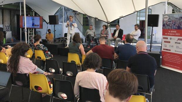 L'atelier du SNES sur les pratiques du livestream au Village du OFF 2021. - © D.R.